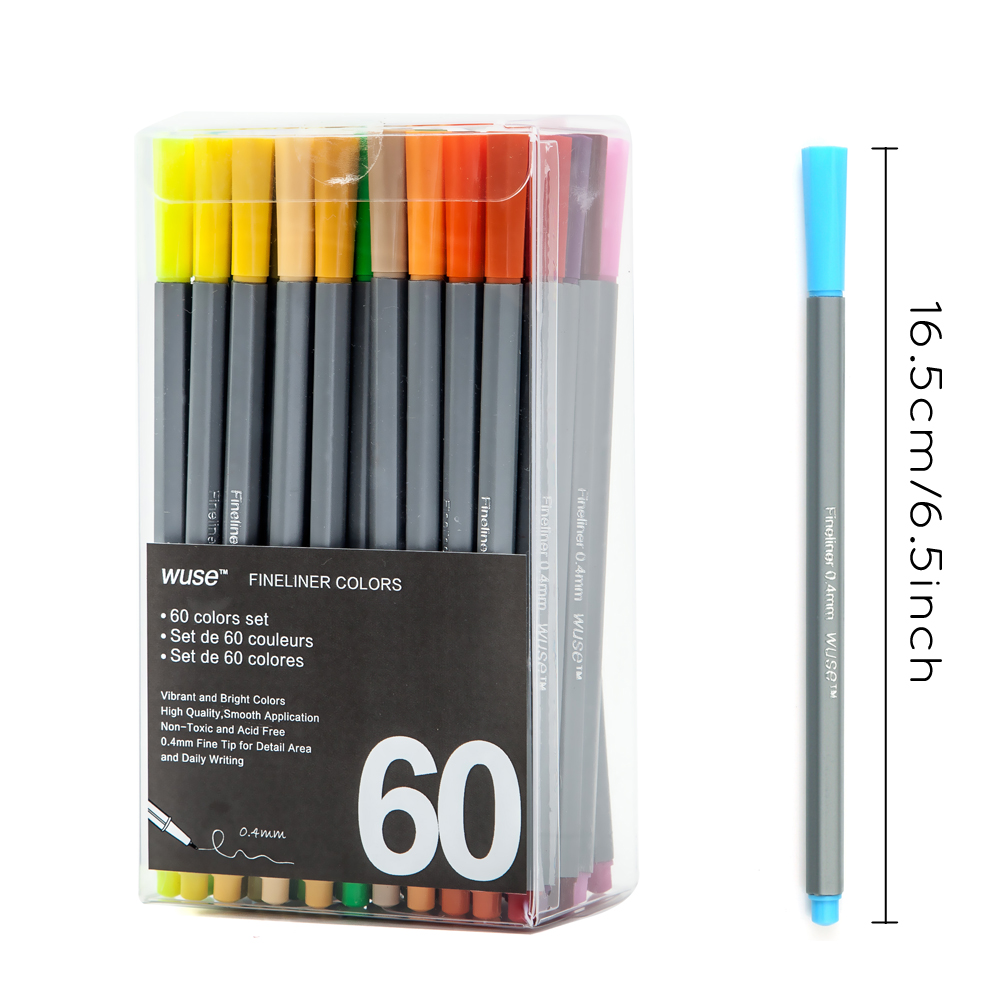 0.4 MM Fine Liner Gel Pens 60 Colors/Set Sketch Drawing Color Pen Art Markers For Drawing Manga Design Art Set Supplies promotion touchfive 80 color art marker set fatty alcoholic dual headed artist sketch markers pen student standard
