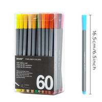 0.4 MM Fine Liner Gel Pens 60 Colors/Set Sketch Drawing Color Pen Art Markers For Drawing Manga Design Art Set Supplies