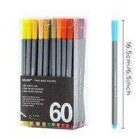 0.4 MM Fine Liner Gel Pens 60 Colors/Set Sketch Drawing Color Pen Art Markers For Drawing Manga Design Art Set Supplies