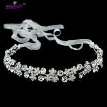 Flor Cristales de diamantes de Imitación Diadema Cadena Mujeres de La Cinta Del Pelo Accesorios de Joyería Nupcial de La Boda Celada GX001