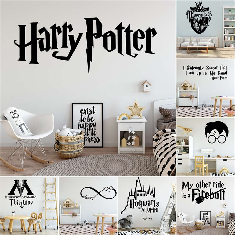 Harry Potter Bedroom Decorating Ideas Modern One Bedroom Apartment Design Black Leather Bedroom Suite Bedroom Colours For Dark Rooms: Harry Potter Wall Sticker Modern Wallsticker For Kids Room