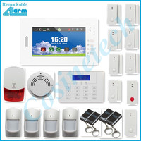 friendly interface detailed menu 7 inch touchable Smart home security 868MHZ GSM alarm system,IOS Android APP SMS alarm system