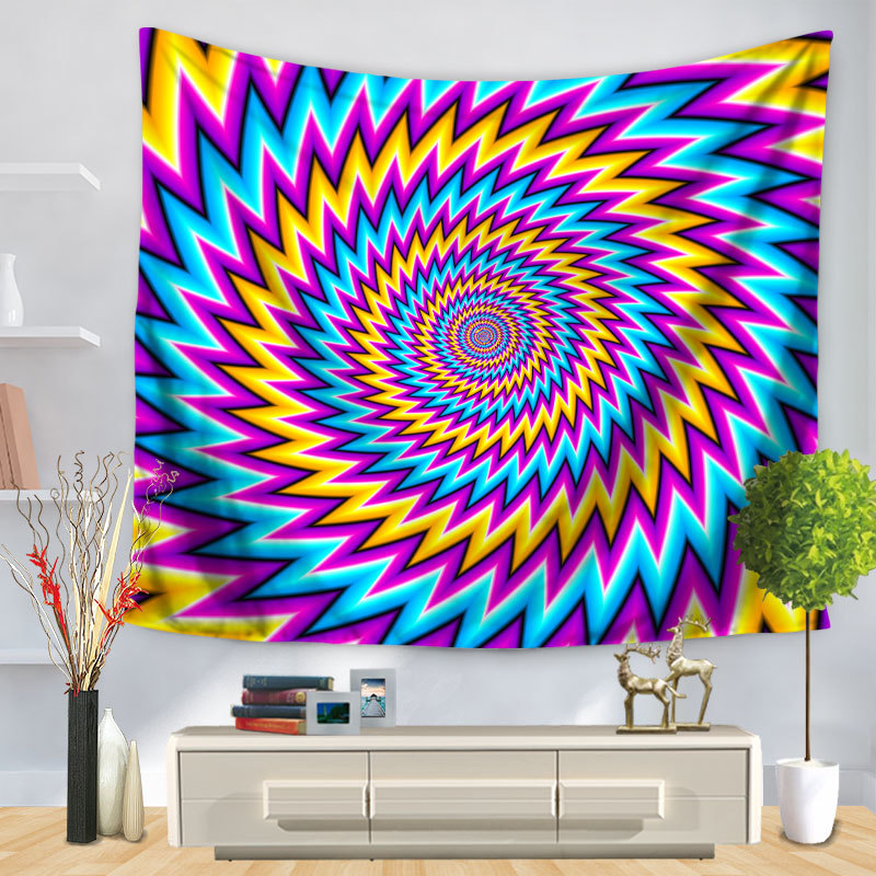 3D Psychedelic Tapestry Indian Geometry Louts Mandala Tapestry 3d Abstract Beach Yoga Wall Hanging Mandala tapestry Tapiz pared