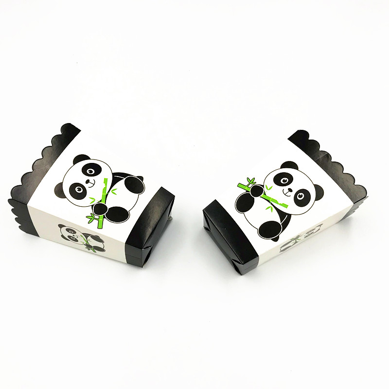 6PCS LOT PANDA POPCORN BOXES BABY SHOWER POPCORN BOXES PANDA THEME POPCORN BOX PANDA PARTY SUPPLIES in Gift Bags Wrapping Supplies from Home Garden