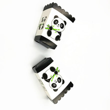 6PCS/LOT PANDA POPCORN BOXES BABY SHOWER THEME BOX PARTY SUPPLIES