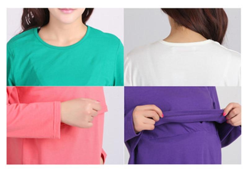 Весенне-осенняя одежда для беременных Одежда для кормления футболка с длинными рукавами