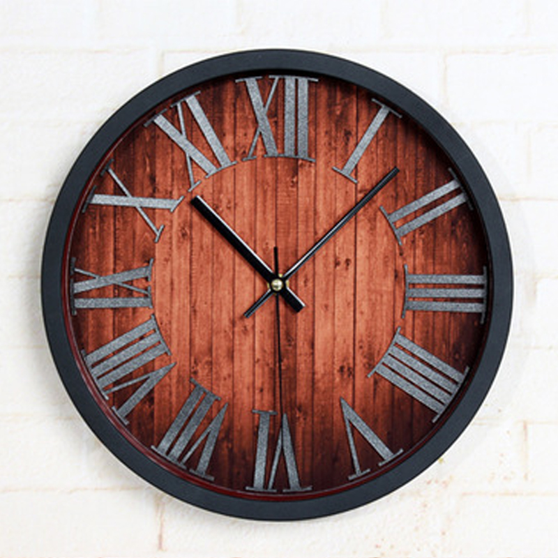 OUYUN Wand Uhr Kreisform Alten China Stil Nadel Dekor Wohnzimmer Kche Kunststoff