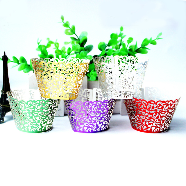12pcs/set Hollow Vine cake cups Christmas paper foil cupcake wrappers for Xmas party decoration baby shower cupcake cases liner  sc 1 st  AliExpress : flower pot cupcake cases - startupinsights.org