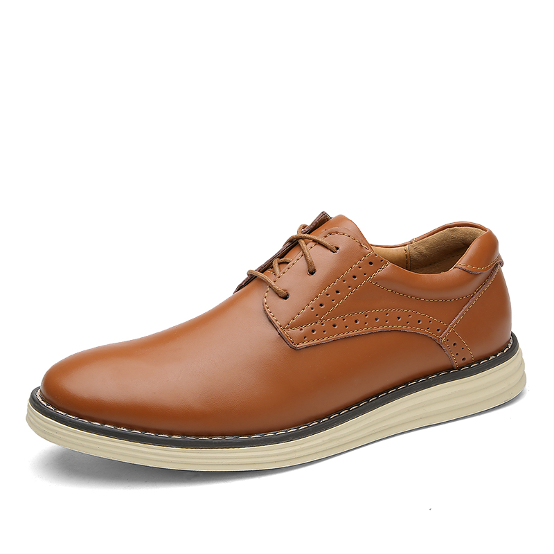2017 Zapatos de Cuero de Los Hombres Genuinos de Los Hombres Slip-On Oxford Piso