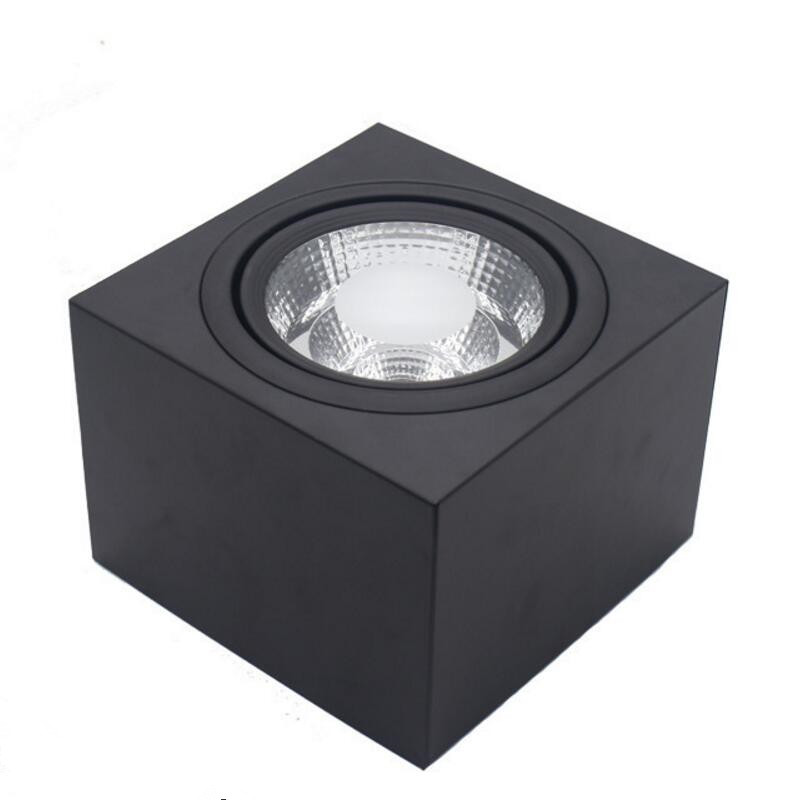 15W dimmable black Square COB LED Downlights Surface Mounted LED Ceiling Lamps Spot Light LED Downlights AC85V-265V 15w dimmable black square cob led downlights surface mounted led ceiling lamps spot light led downlights ac85v 265v