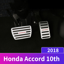 Aluminum alloy Car Styling Accelerator Gas Pedal Brake Pedals Non Slip Pads Cover AT For Honda Accord 10th 2018 2019 Accessories