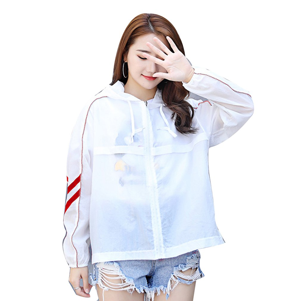 Casual Outdoor Beach Holiday Anti-UV Women Long Sleeve Cardigan Summer Loose Style Ladies Travel Sunscreen Outwear Coats(China)