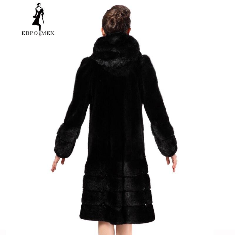 Pleine Vison Manteau Fourrure Est Naturel Pelt Très Pratique Noir Fourrure Mode Modèles Féminin Solide De Nouveaux Black Manteau xnXCBqzH