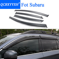 QCBXYYXH Car Styling Awnings Shelters Window Visors Rain Eyebrow For Subaru Forester Outback XV Legacy Wagon