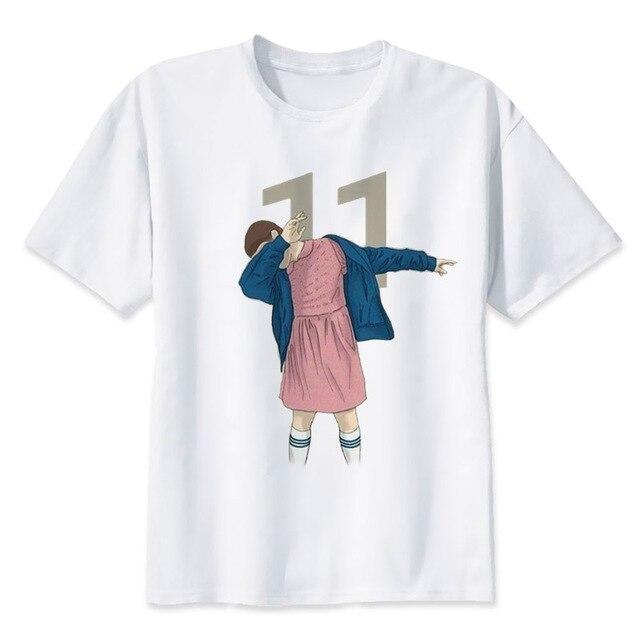 55b1b420 stranger things eleven demogorgon upside down t-shirt male men Fashion  funny t-shirt tee top shirt male man S-3XL