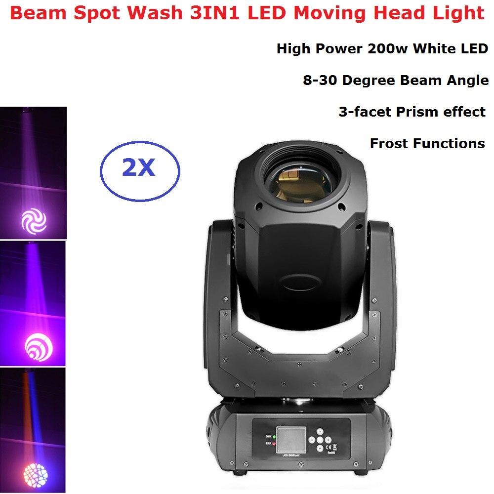 Lyre LED 200W faisceau Spot lavage lumière principale mobile DMX 512 faisceau principal mobile professionnel Dj Bar boîte de nuit stade lumière Machine de fête