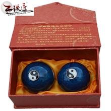 Baoding Wang Tiejiang Tai Chi font b health b font ball Cloisonne font b fitness b