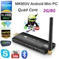 Mini TV Box RK3288 MK903V Mini PC TV Box palillo Androide 4.4 4 k x 2 k h.265 google tv player wifi bluetooth h.265 bdmv, ISO, MKV