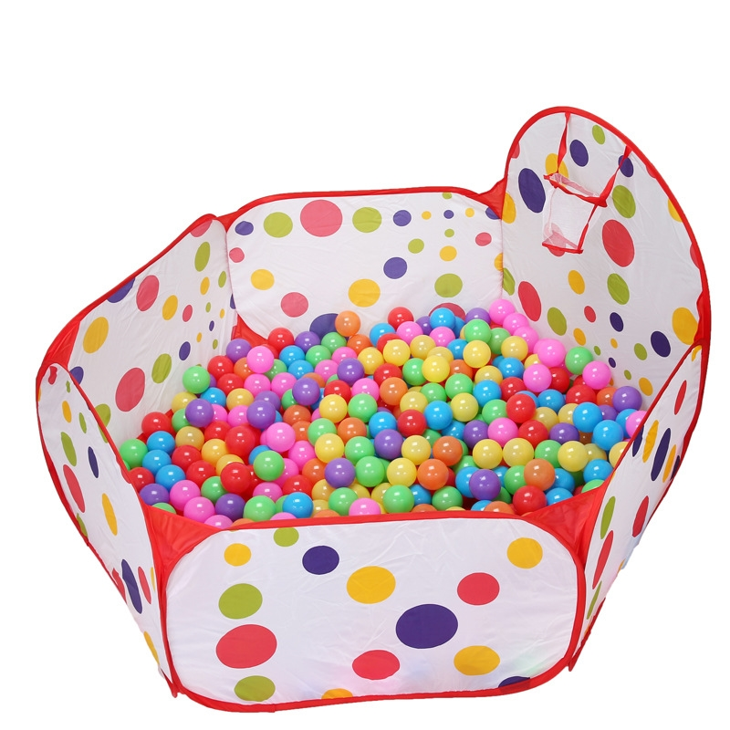 Emmababy Brand New Baby Kids Ball Pit Ball Tent Toddler Ball Pit With Basketball Hoop And Zipper Crib Netting Baby Bedding