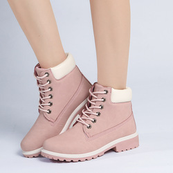 2016 HOT Autumn Winter Brand Women Shoes Martin Boots Suede Leather Warm Snow Boots Outdoor Casual Timber Boots Botas Femininas