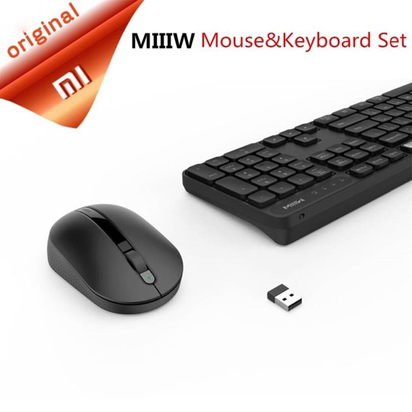 Original Xiaomi MIIIW Wireless Office Keyboard & Mouse Set 104 Keys 2.4GHz Multi System Compatible Wireless Portable Keyboard