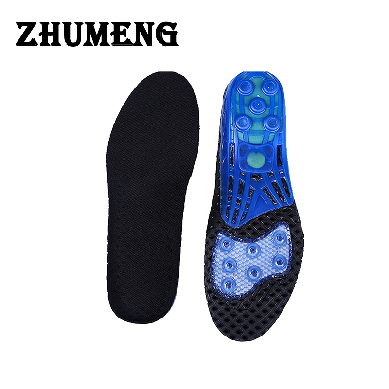 ZHUMENG 2017 Shocker Gel Insoles Foot Care for Plantar Fasciitis Heel Spur Running Insoles Shock Absorption Pads for Men Women