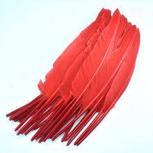 wholesale red goose feathers Carnival headwear Party decorative plume 30-35cm natural feather for jewelry making home Crafts DIY