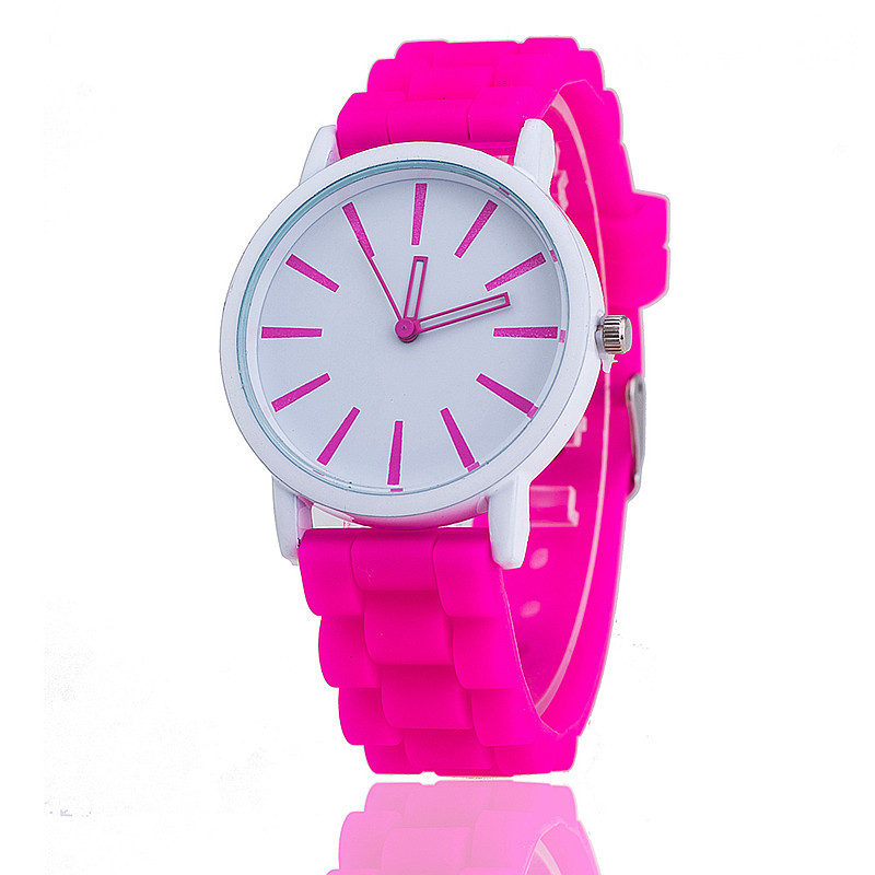 2018 Hot Unisex Fashion Brand Watch Quartz Casual Silicone Women Sport Klockor Red Reloj Pulsera Mujer Casual Armbandsur Present