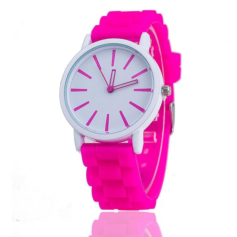 2018 Hot Unisex Modemerk Horloge Quartz Casual Siliconen Dames Sport Horloges Rood reloj pulsera mujer Casual horloges cadeau