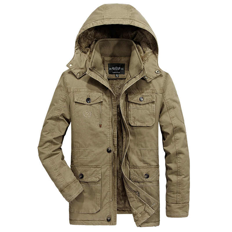 AFS ジーププラスサイズ 7XL 8XL 軍事パーカ男性コート 2018 冬厚く雪コールド男性ジャケット綿フード付きパーカー Hombre