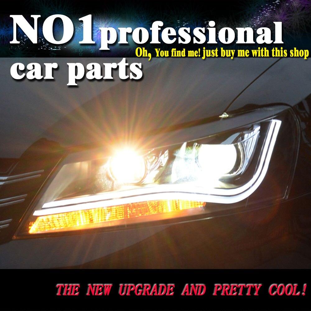 Car Styling For VW  Passat B7 headlights led  head lamp DRL front Bi-Xenon Lens Double Beam HID KIT