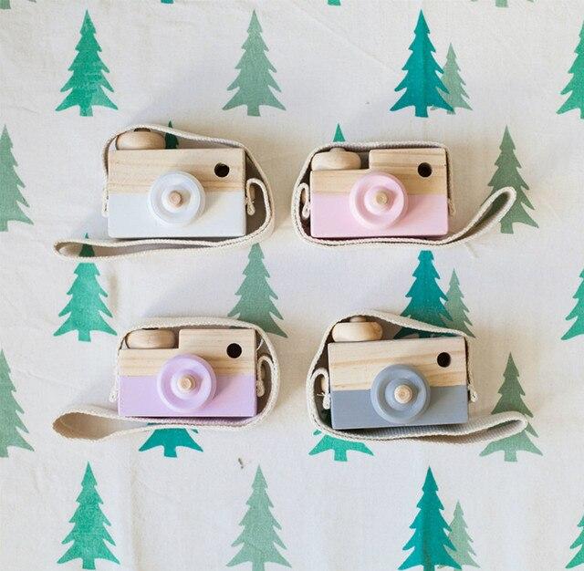 e4f86d6d8 Piękny Śliczne Drewniane Aparatu Zabawki Dla Dzieci Kids Room Decor  Artykuły wyposażenia wnętrz Dziecko Boże Narodzenie