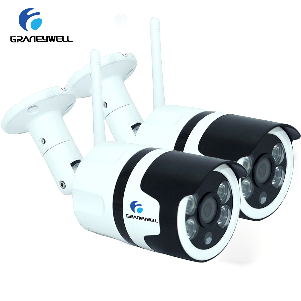 2 PCS Wifi Camera 1080P HD 2.0MP Wireless IP Security Camera Two Way Audio TF Card Record Smart P2P Waterproof Bullet Camera ct 3086 salinity meter portable salinity meter brackish meter precision pen style digital salinity meter 0 0
