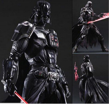 Star Wars figura de acción Playarts Kai juguetes Darth Vader PVC modelo de recogida de 275 mm de Star Wars Vader Play arts Kai