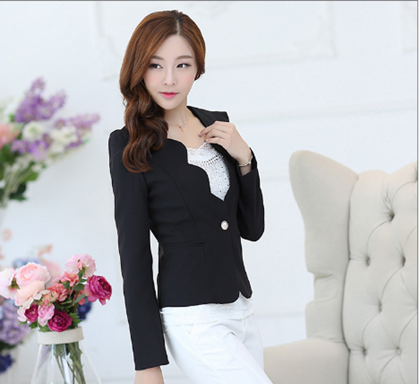 2019 Women Blazers And Jackets Vadim Women V Neck Spring Autumn Blazers And Jackets Sleeve Blazer Feminino Casual Style Suit