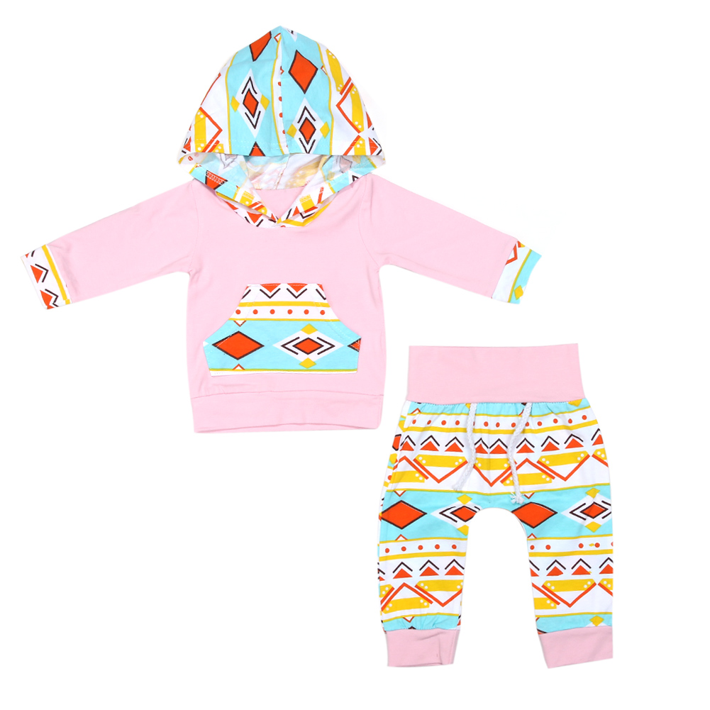 2pcs/set Fashion Baby Girls Clothing Set Autumn Floral Print Hoodies Pullover Tops+Long Pants Outfits Toddlers Tracksuit Clothes