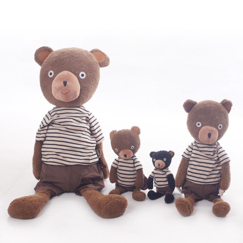 ФОТО pernycess 1pcs 90cm sugar bear genuine security le sucre sugar rabbit doll plush toys  colors: black brown    01