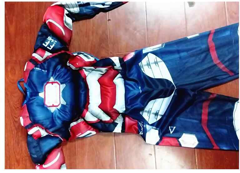 Homem de ferro Patriota 3 Muscle Superhero Traje + Máscara LIVRE criança the Avengers Traje Crianças Fantasia de Carnaval festa cosplay Disfrace