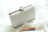 2015 Famous Design Luxury Diamonds Pear Ladies Women Clutches Evening Bags Handbags Wedding Party Purses Wholesale