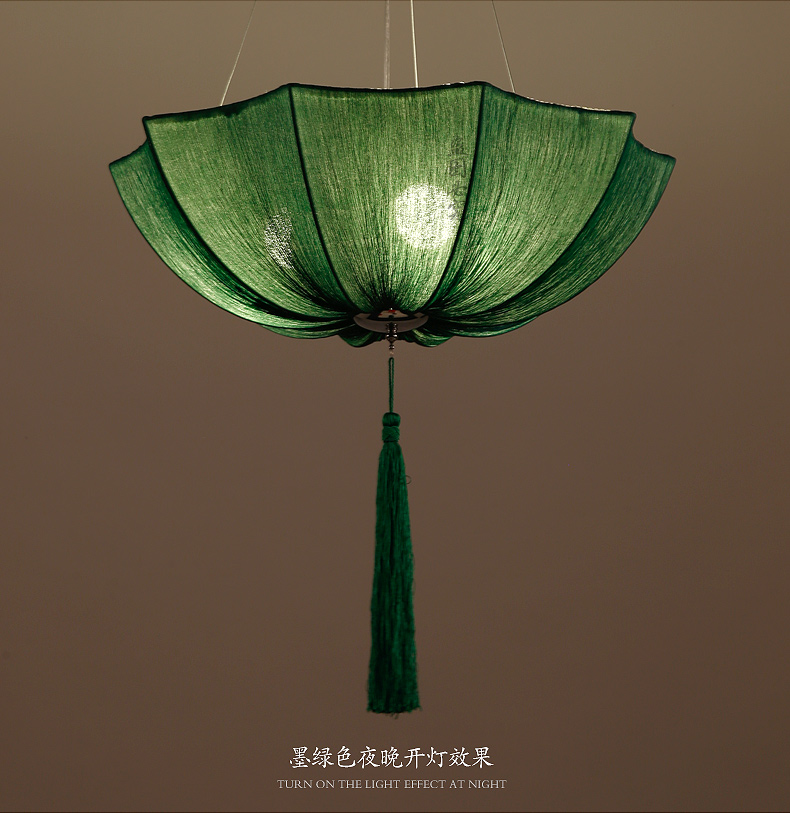 Chinese cloth classical imitation cloth umbrella pendant lamp lantern Restaurant balcony aisle Club Creative ZS136