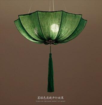 Chinese Cloth Classical Imitation Cloth Umbrella Pendant Lamp Lantern Restaurant Balcony Aisle Club Creative ZS136