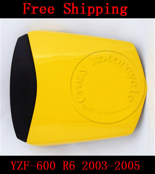 For Yamaha YZF 600 R6 2003 2004 2005 motorbike seat cover Motorcycle Yellow fairing rear sear cowl cover Free Shipping for yamaha yzf 600 r6 2008 2009 2010 motorbike seat cover high quality motorcycle yellow fairing rear sear cowl cover