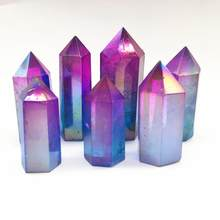 clear crystal Aura Angel Wand Points Healing quartz stone(China)