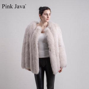 Image 3 - PINK JAVA QC1824 real fox fur coat women fur coats winter jacket natural fox clothes hot sale  high quality  fur overcoat