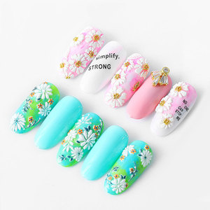 Image 2 - 5D Acrylic Engraved nail art sticker colorful  flowers leaves Template Decals Tool DIY Nail Decoration Tools Z0133