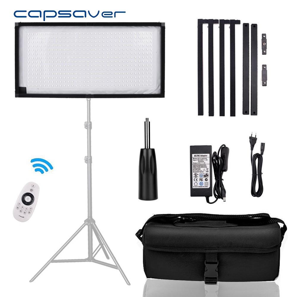 capsaver FL-3060 Portable LED Video Light Photographic Lighting led Light Panel for Vlog Camera Youtube Shoot 5500K 384 LEDs