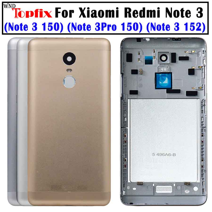 For Xiaomi Redmi Note 3 Pro 152mm Special Edition SE Rear Battery Housing Door Cover Back Case+Side Button+ Camear Lens Cover