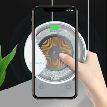 Visible Smart 10W QI wireless charger For iphone x 8 xs max xiaomi huawei mate 20 pro chargeur induction for samsung Galaxy s9