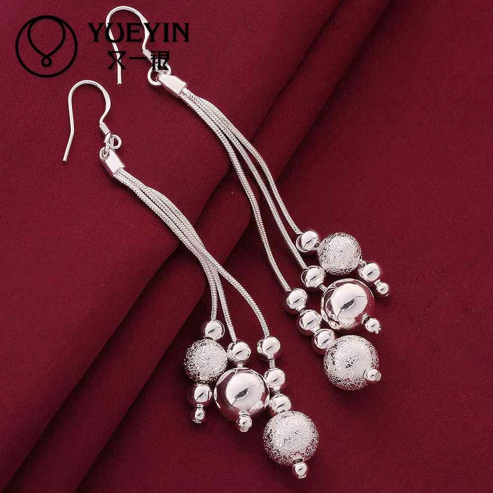silver plated pendant earrings Wholesale silver plated long Dangle earrings for women wedding jewelry New Design minimalistic