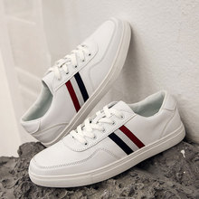SUROM Top Brand Skateboarding Shoes Sneakers Men Comfortable Leisure Leather White Shoes Sports 2018 Spring New Male Sneakers